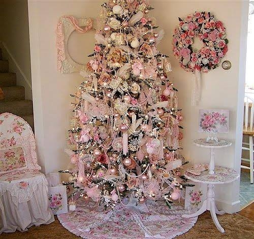 pretty pink Christmas tree