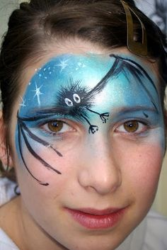 halloween-bat-face-painting