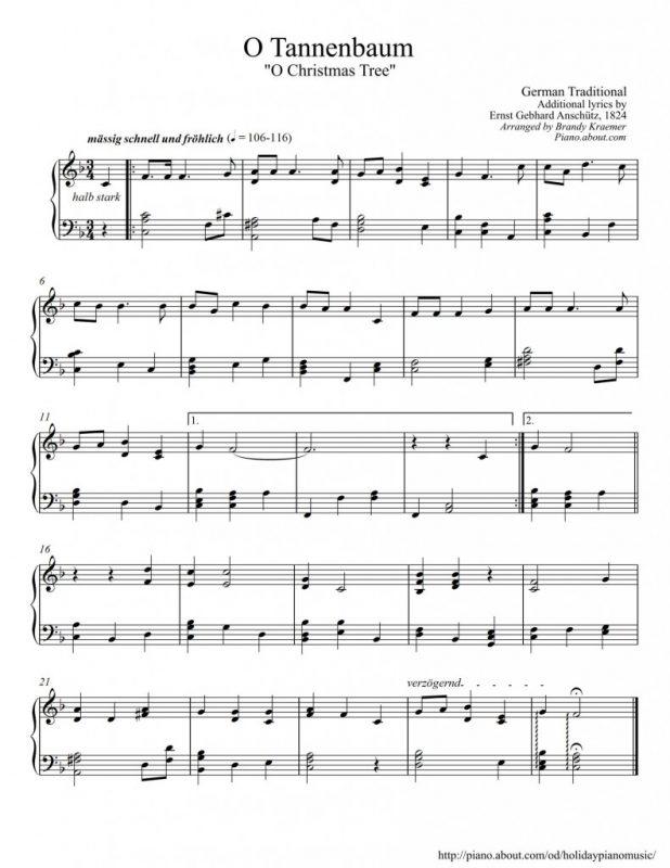 o tannenbaum o christmas tree o christmas tree sheet music