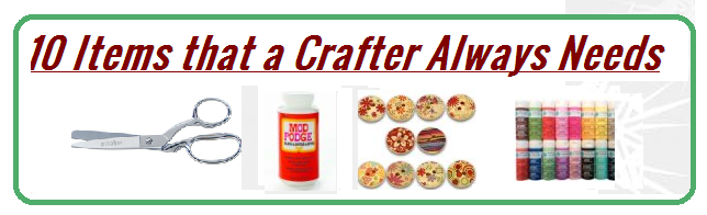 ten items that a crafter needs