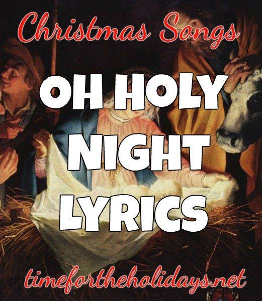 Oh Holy Night Lyrics   Time for the Holidays