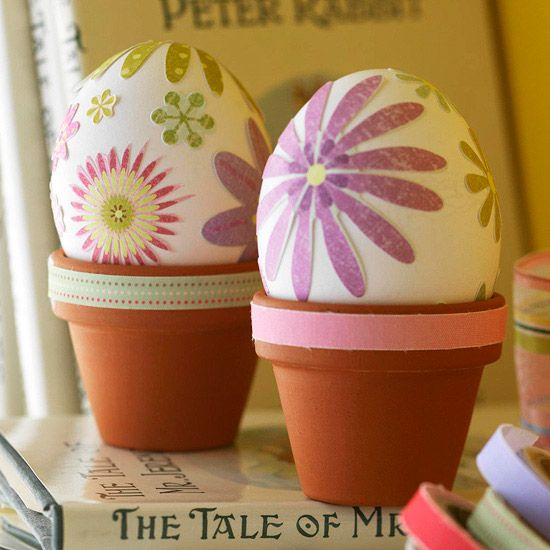 Floral Easter Egg Patterns on Family Circle