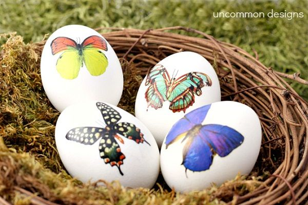 Make Easter Eggs using Temporary Tattoos Photo Source