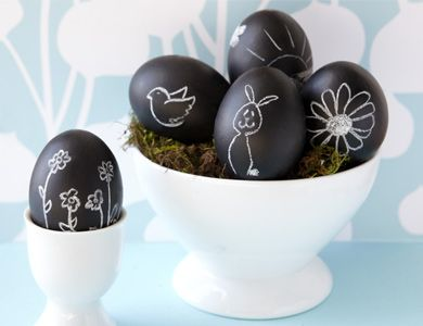 Cute Black and White Easter Eggs Photo Source