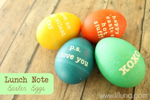 Love Note Easter Eggs Photo Source