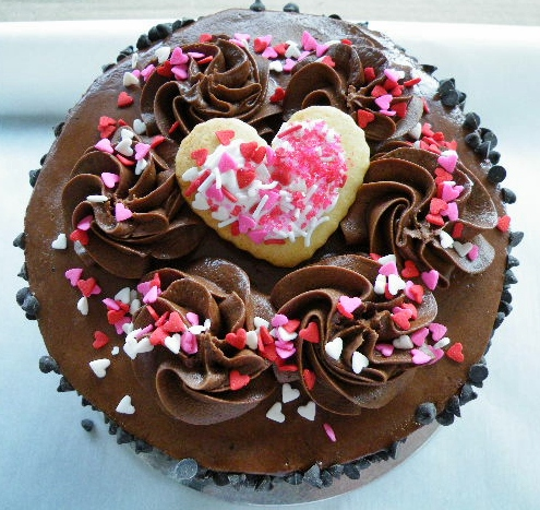 Chocolate Heart Valentine's Day Cupcake