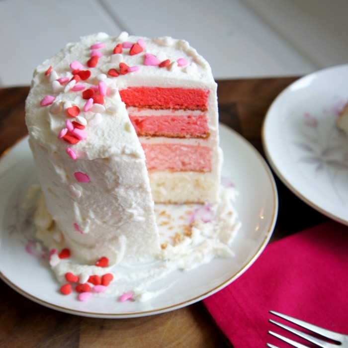 Multi Colored Valentine's Day Cake