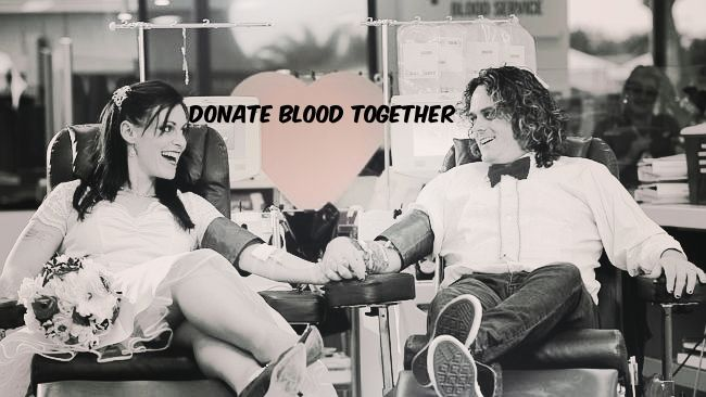 This couple donated blood together on their wedding day. Find out why here.