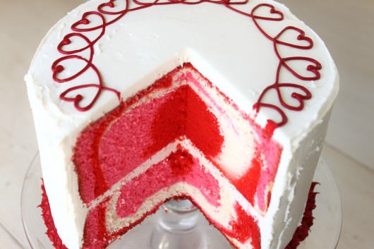 Tye Dye Valentine's Day Cake Find More on Freakify