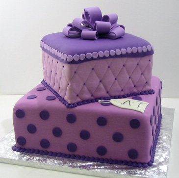 Purple Engagement Cake