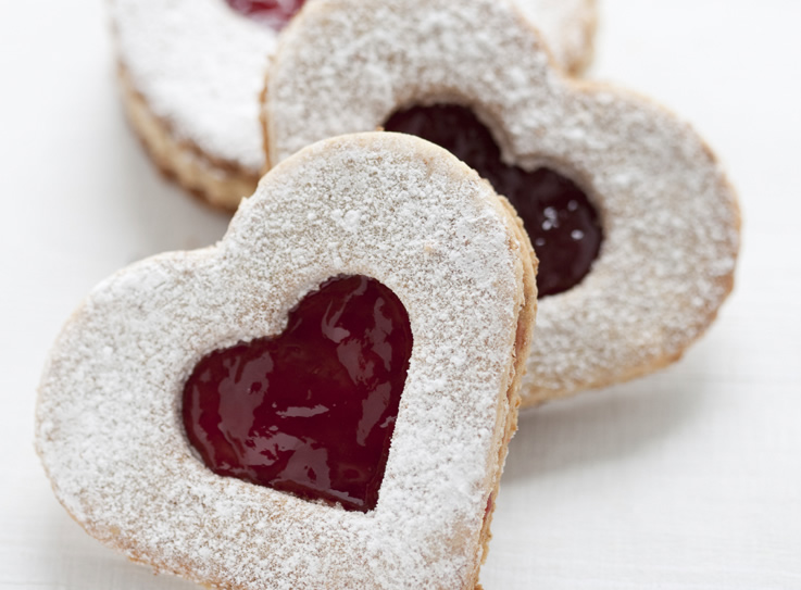Sweet Almond Valentine's Day Cookies