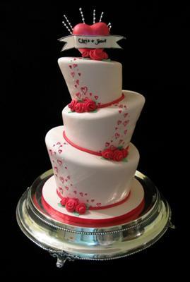 Topsy Turby Valentine's Day Cake