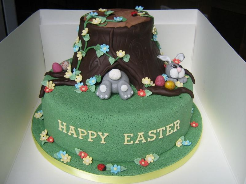 Fotos - Fotos Easter Spring Birthday Cake Wasc Cake Covered In Bc Mmf ...