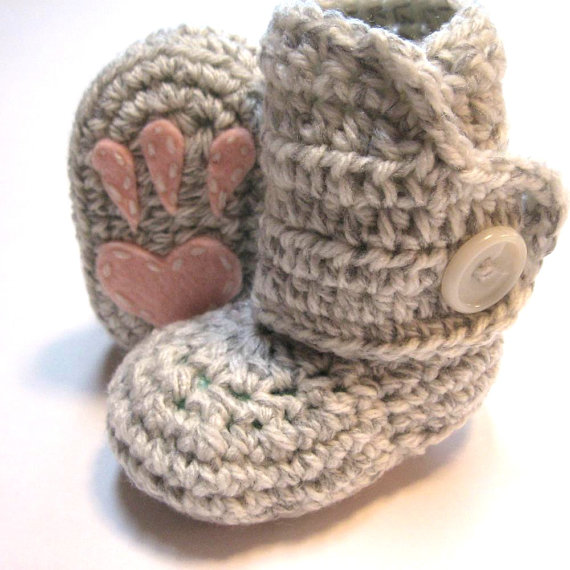 Handmade Baby Booties Bunny Paws Purchase Here