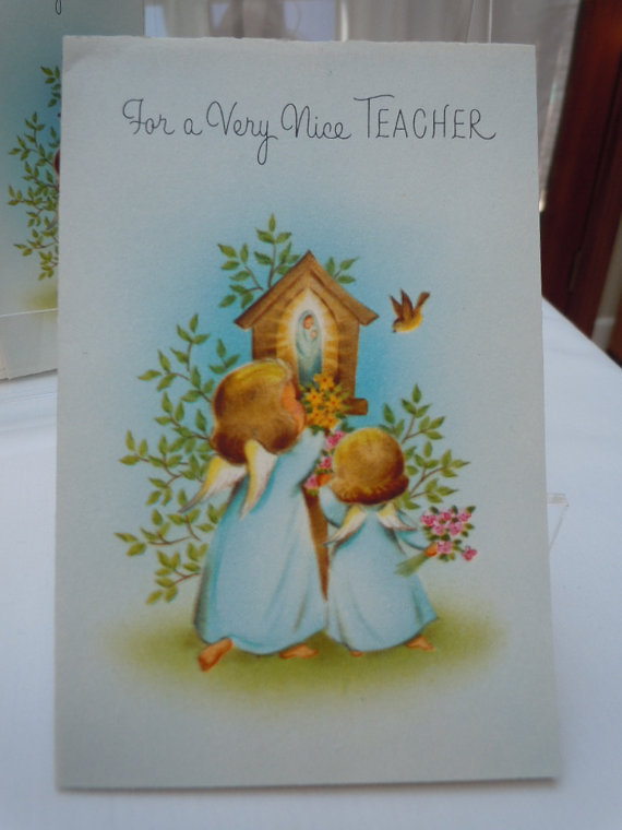 Vintage 1950's Easter Teacher Religious Cards Purchase Here