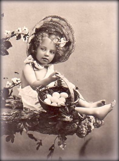 Little Girl Vintage Easter Photograph Photo Source