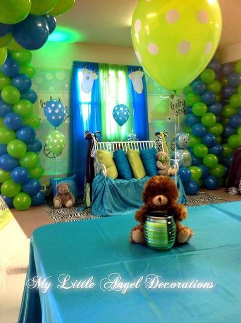 baby boy blue themed baby shower