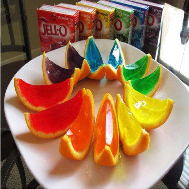 Jello Shots in Orange Peels See How Here