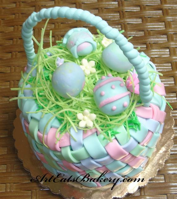 This Easter Basket is actually cake! Photo Source