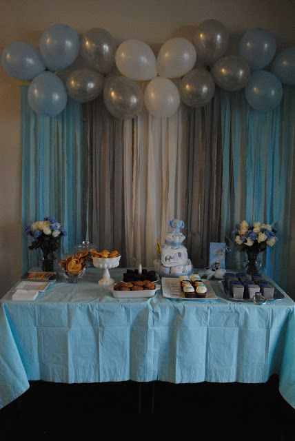 Decorations Photo Source Baby Boy Shower Balloon Ideas By The Meads