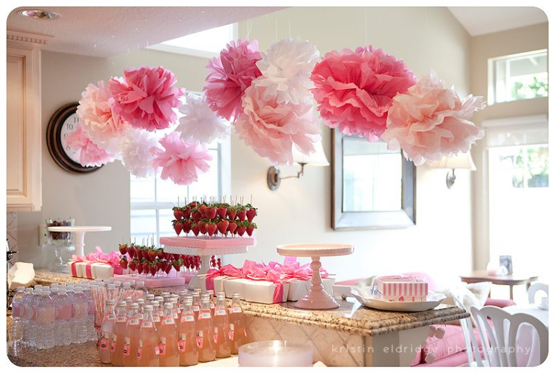 Pink Baby Girl Shower Time For The Holidays