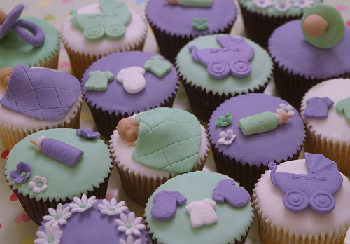 Purple or Lavender Baby Shower Time for the Holidays
