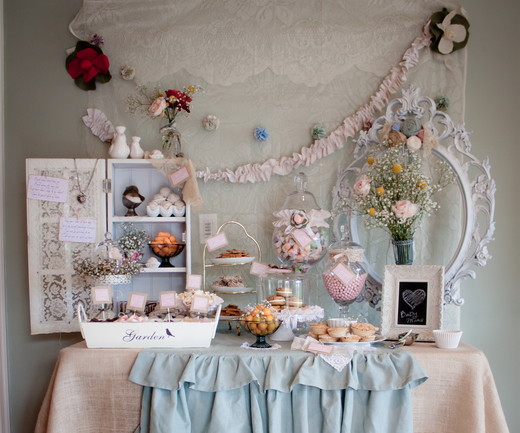 here are some fun shabby chic baby shower pictures