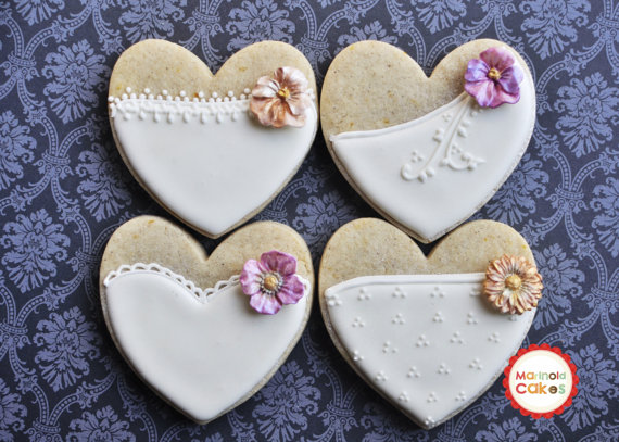 Shabby Chic Wedding Cookies by Marinold Cakes Purchase Here