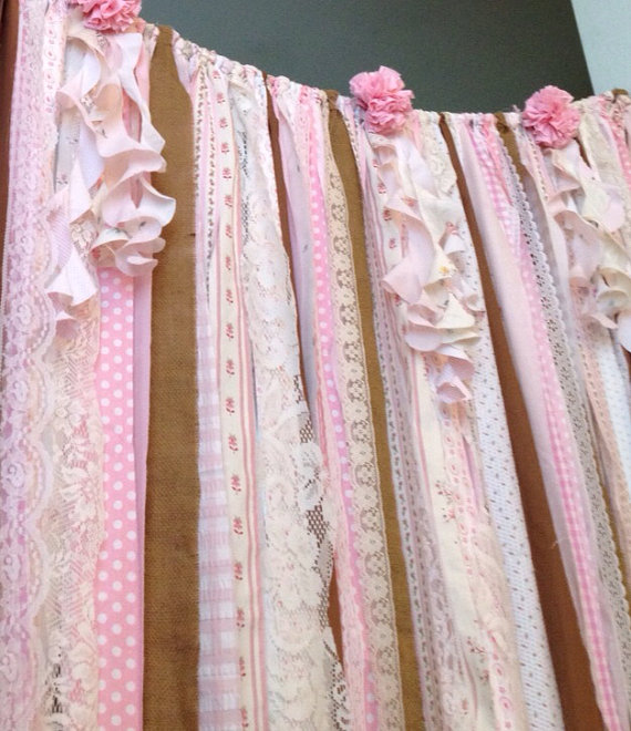Pink & Burlap Rustic Boho Backdrop Purchase Here