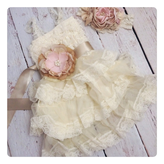 Beautiful Ivory Vintage Flowergirl Dress Purchase Here