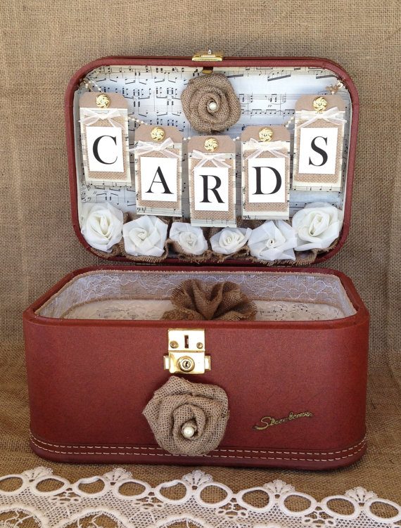 Vintage Suitcase Card Holder Click Here to Purchase