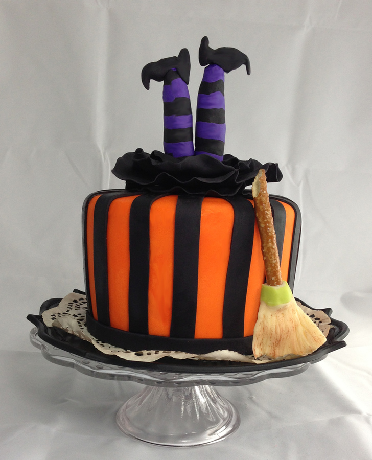 Witch Legs Halloween Cake from Cake Central