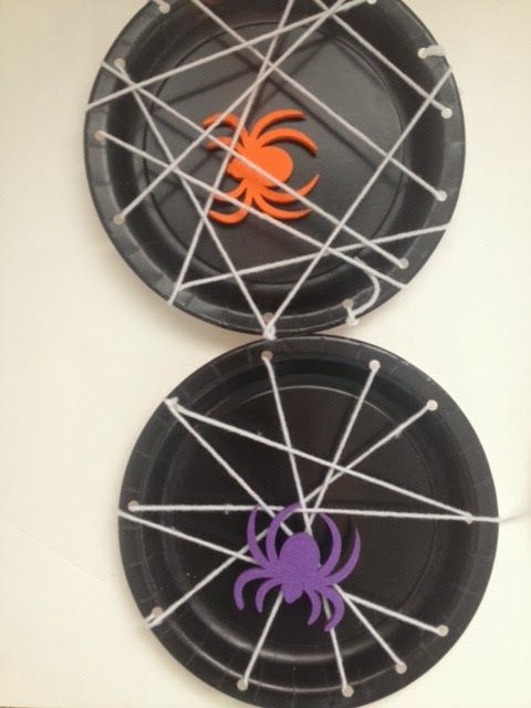 Click Here to VIsit Craftily Ever After for Instruction on how to Make Spider Webs on a Paper Plate!