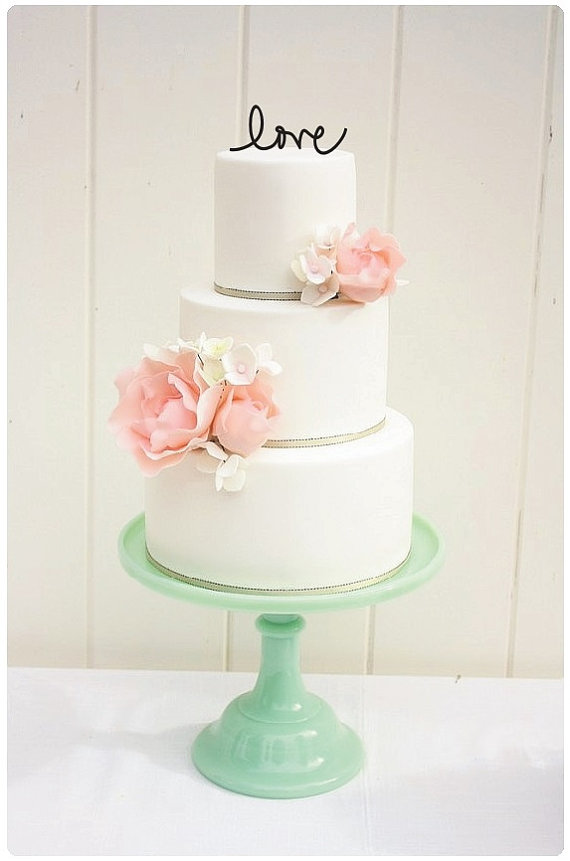 Shabby Chic Wedding Cake Toppers | Time for the Holidays