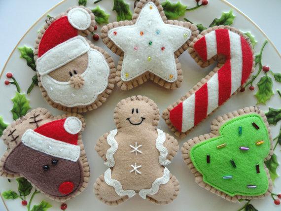 Felt Christmas Cookies Purchase on Etsy!