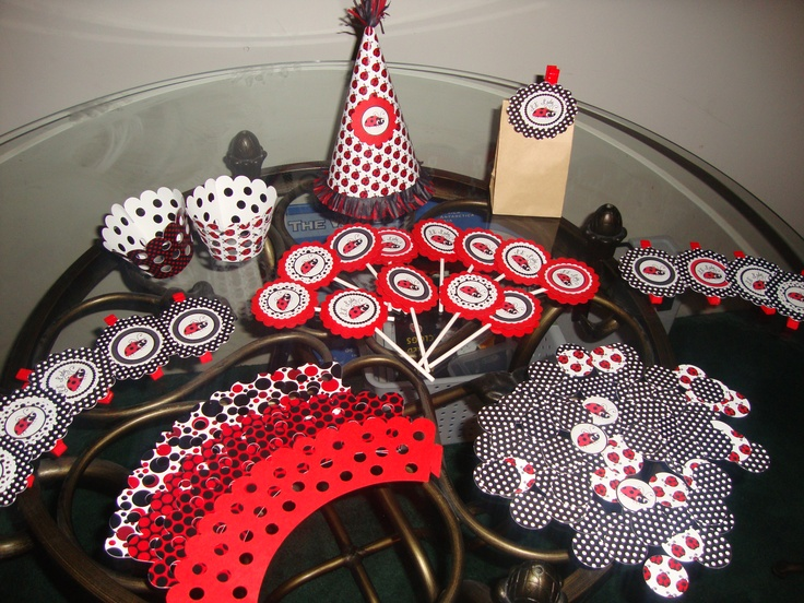 black red and white baby shower found on pinterest