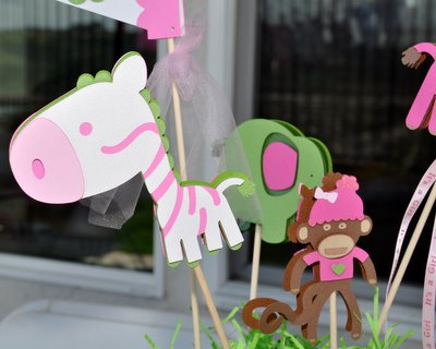 Baby Shower Jungle Centerpiece (2)