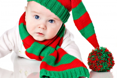 adorable Christmas baby
