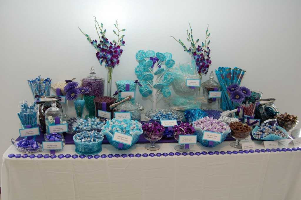 purple and blue baby shower
