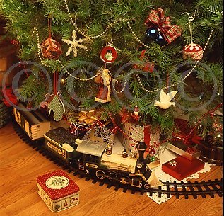 Christmas Tree Train Set