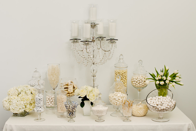 white candy buffet