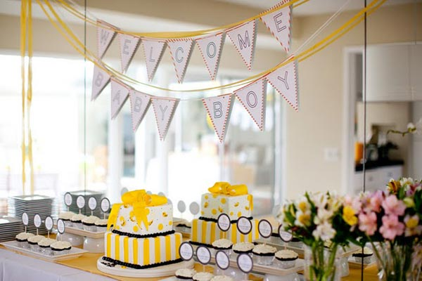 baby shower ideas yellow theme baby shower decoration ideas