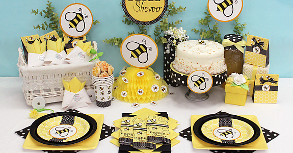 bumble bee baby shower theme time for the holidays baby shower bumble bee decorating ideas 575x300