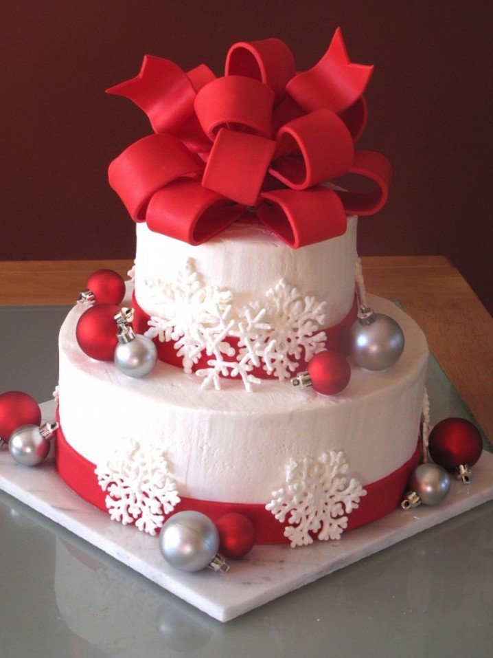 Christmas-Cake-Idea-Snow