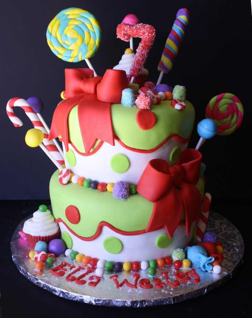 Holly Jolly Christmas Birthday Cake