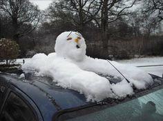 snowman-on-car