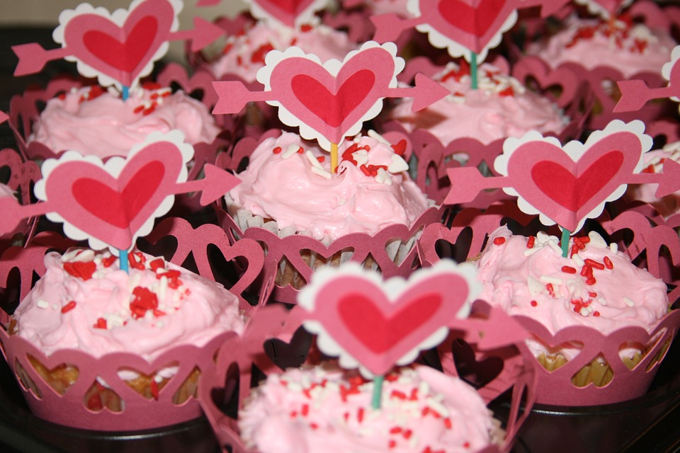 cute valentines day cupcake