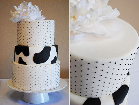 Black-White-Baby-Shower-Cake