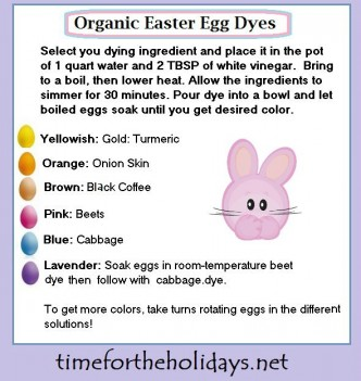 organic easter eggs dyes