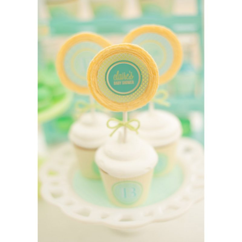 gender neutral baby shower cupcake toppers-950x950